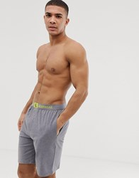 Calvin Klein Monogram Shorts In Dark Grey