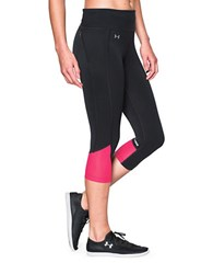 Under Armour Fly By Ultra Tight Ergonomic Capri Black Pink