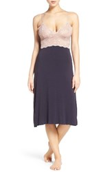 Samantha Chang Women's Ballet Nightgown Deep Blue Java Mauve