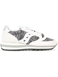 Saucony Patterned Lace Up Sneakers Grey