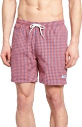 Trunks Surf And Swim Co. Men's San O Seersucker True Royal Spicy Coral