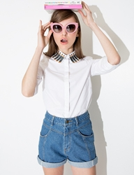 Pixie Market Pencil Collar Shirt