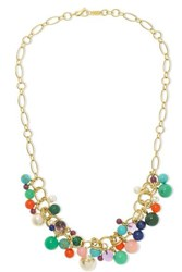 Ippolita Nova Cluster 18 Karat Gold Multi Stone Necklace One Size