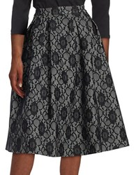 Karl Lagerfeld Lace Topped Ball Skirt Grey Black