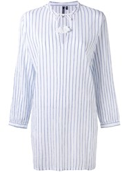 Woolrich Striped Shirt Dress Women Cotton M White