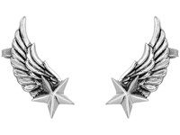 King Baby Studio Winged Star Ear Cuff Earrings Silver Earring