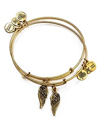 Alex And Ani Wing Expandable Wire Bangles Set Of 2 Gold