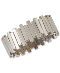 French Connection Stagger Bar Stretch Bracelet Silver
