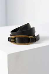 Urban Outfitters Leather Tab Belt Black
