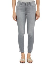 Articles Of Society Carly Skinny Cropped Raw Hem Jeans Gray