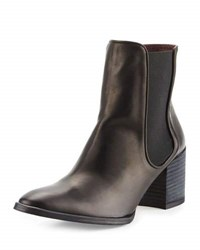 Etienne Aigner Tate Leather Stretch Bootie Black