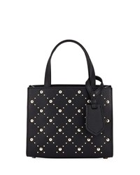 Kate Spade Thompson Street Stud Small Sam Satchel Bag Black