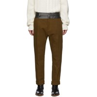 Haider Ackermann Brown Contrast Waistband Trousers