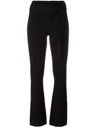 Designers Remix Ribbed Flared Pants Black