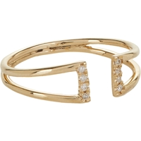 Jennie Kwon Diamond And Gold Buckle Ring
