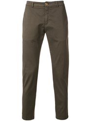 Department 5 Chino Trousers Cotton Spandex Elastane Green