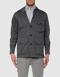Piombo Mid Length Jackets Steel Grey