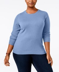 Charter Club Plus Size Cashmere Crewneck Sweater Only At Macy's Dusty Robin