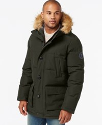 Tommy Hilfiger Big And Tall Long Snorkel Coat Dark Forest