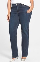 James Jeans High Rise Straight Leg Jeans Indigo Plus Size