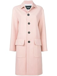 Dsquared2 Classic Wool Coat Pink And Purple