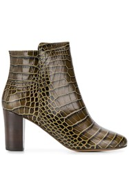 Tila March Bradford Ankle Boots Green