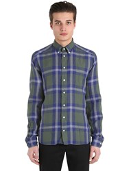 Eton Slim Fit Plaid Cotton Button Down Shirt