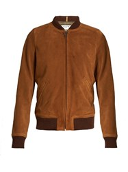 A.P.C. Patty Suede Bomber Jacket Tan
