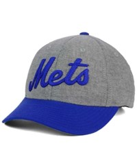 American Needle New York Mets Curve Ball Game Hat Gray Royalblue