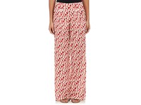 Rhie Women's Floral Cotton Silk Pleated Pants Red Light Pink Black