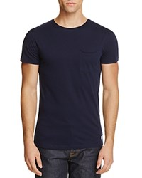 Superdry Lite Loomed Solid Pocket Tee Navy