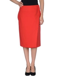 Windsor. Knee Length Skirts Red