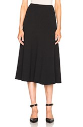 Rosetta Getty Ribbed Flare Skirt In Black