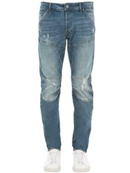G Star 5620 3D Slim Destroyed Denim Jeans Blue Aged