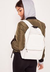 Missguided Sports Luxe Back Pack White White