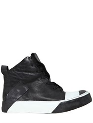 Boris Bidjan Saberi Kangaroo Leather High Top Sneakers