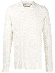 Laneus Cable Knit Sweater White