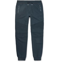Belstaff Ashdown Slim Fit Tapered Cotton Jersey Sweatpants Indigo