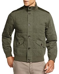 Brooks Brothers New Canaan Quilted Jacket Olive Heather