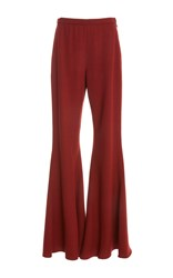 Rosetta Getty Straight Flare Wool Trouser Red