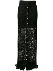 Fausto Puglisi Long Lace Skirt Black