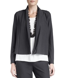 Eileen Fisher Washable Stretch Crepe Short Jacket Plus Size Graphite