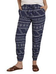 Fat Face Tribal Cuffed Trousers Indigo