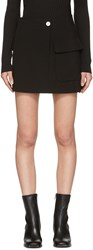 Helmut Lang Black Raw Detail Miniskirt