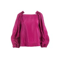 Wtr Aleko Pink Beaded Blouse Pink Purple