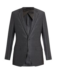 Kilgour Single Breasted Notch Lapel Wool Blazer Charcoal