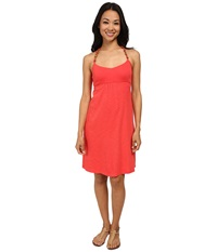 Tommy Bahama Ashby Rib Halter Dress Bright Coral Women's Dress Gray