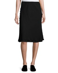 The Row Kiori Silk A Line Skirt Blue Black