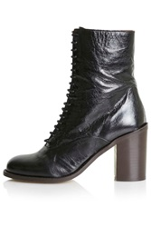 Topshop Play Limited Edition Laced Boots Black