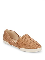 Elliott Lucca Woven Leather Flats Alpaca